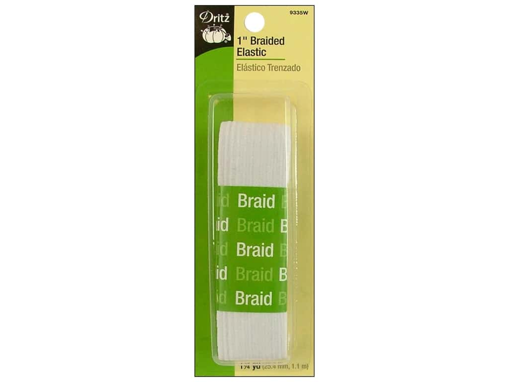 Dritz Braided Elastic 1 in. x 1 1/4 yd. White