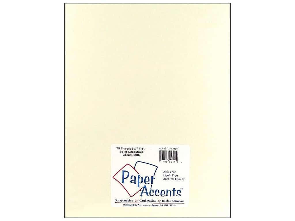 Paper Accents Cardstock 8 1/2 x 11 in. #119M Smooth Cream 25 pc.
