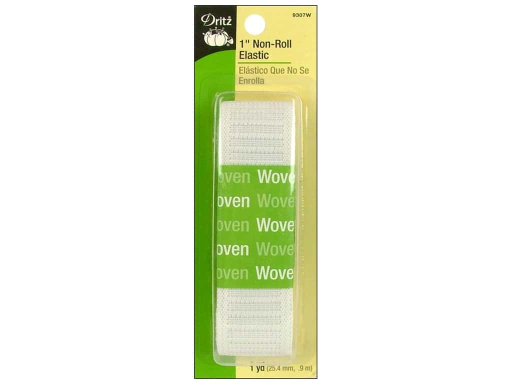 Dritz Non-Roll Elastic 1 in. x 1 yd. White