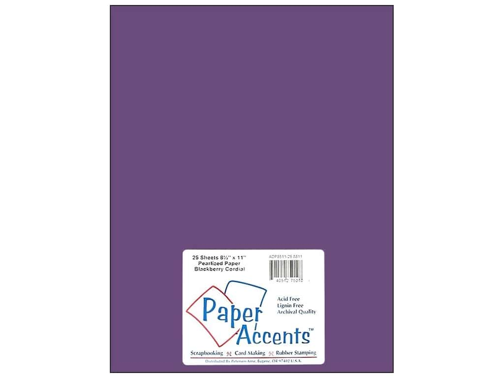 Paper Accents Pearlized Paper 8 1/2 x 11 in. #8811 Blackberry Cordial (25 sheets)