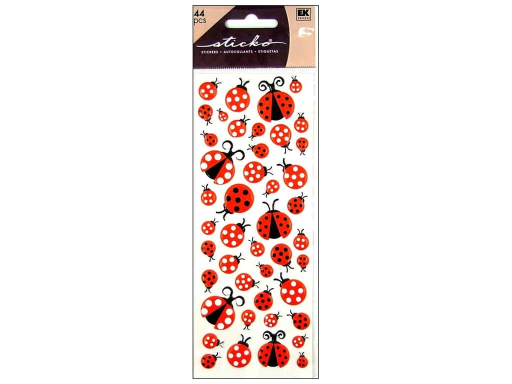 Sticko Puffy Stickers - LadyBugs