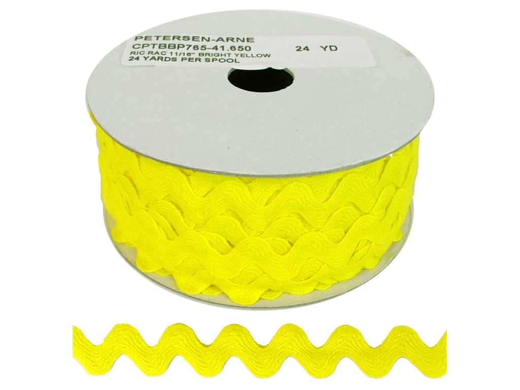 Cheep Trims Ric Rac 11/16 in. Yellow (24 yards)