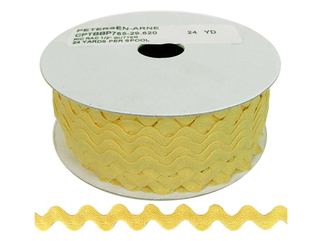 Cheep Trims Ric Rac 1/2 in. Butter (24 yards)