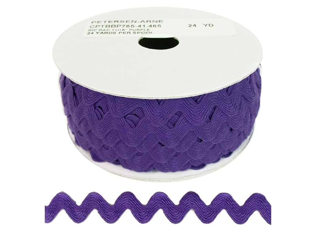 Cheep Trims Ric Rac 11/16 in. Purple (24 yards)