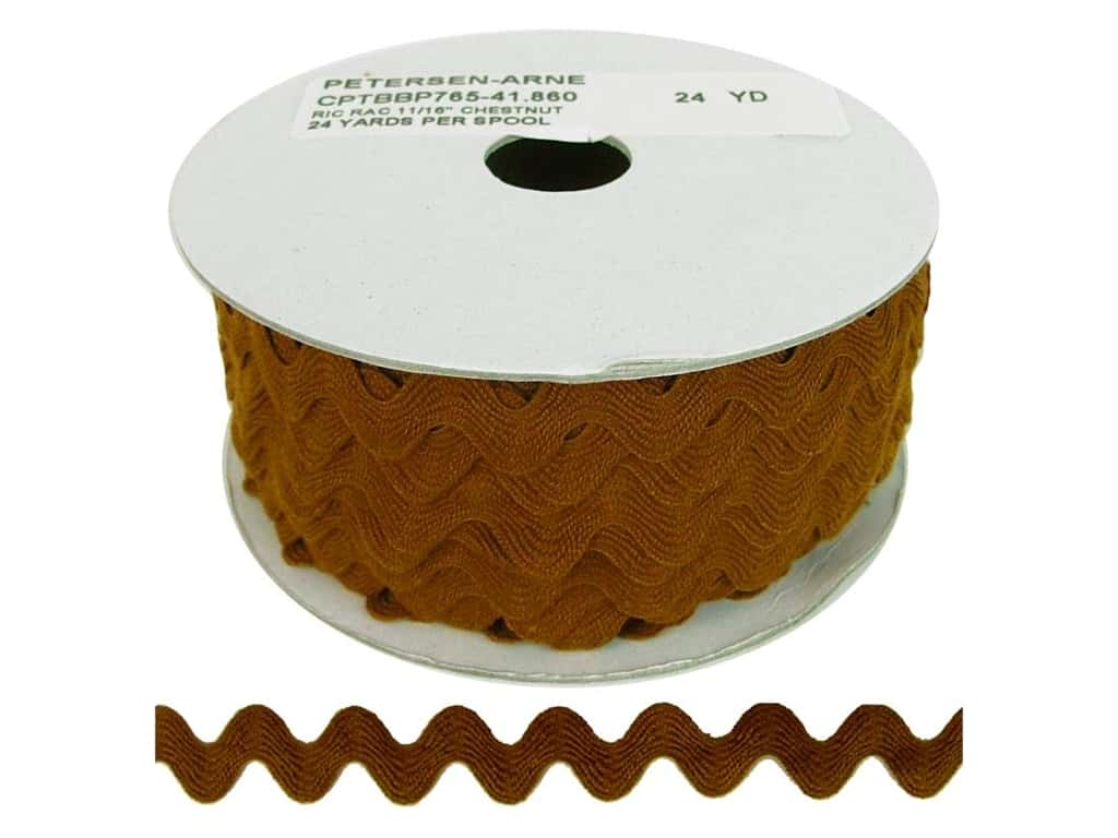 Cheep Trims Ric Rac 11/16 in. Chestnut (24 yards)