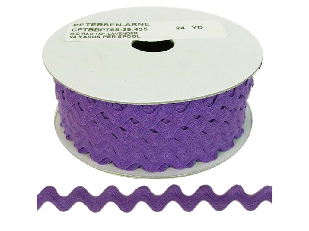 Cheep Trims Ric Rac 1/2 in. Lavender (24 yards)