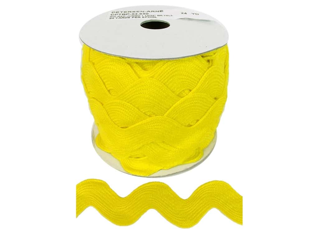 Cheep Trims Jumbo Ric Rac 1 13/32 in. Yellow (24 yards)