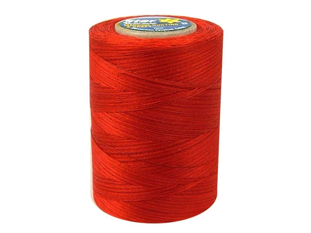 Coats & Clark Star Variegated Mercerized Cotton Quilting Thread 1200 yd. #832 Cherry Tomato