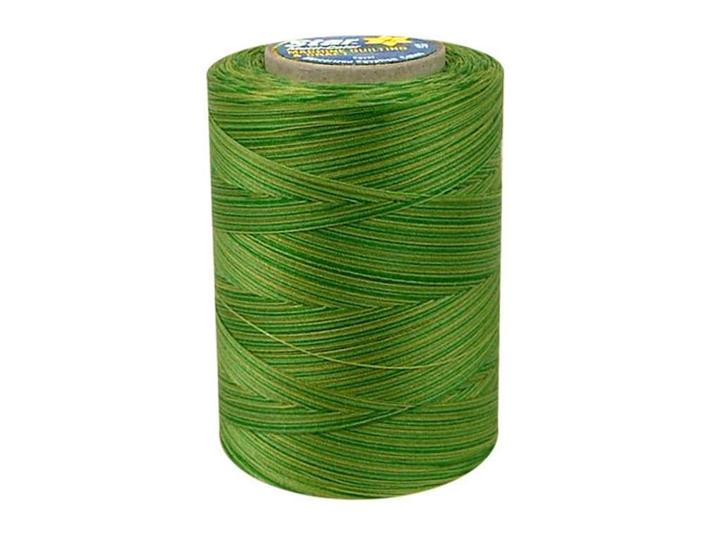 Coats & Clark Star Variegated Mercerized Cotton Quilting Thread 1200 yd. #849 Field Of Green