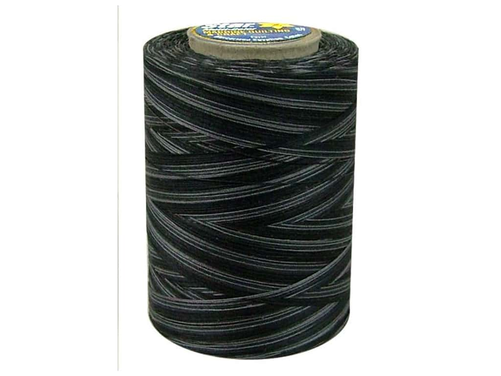 Coats & Clark Star Variegated Mercerized Cotton Quilting Thread 1200 yd. #856 Black Pinstripe