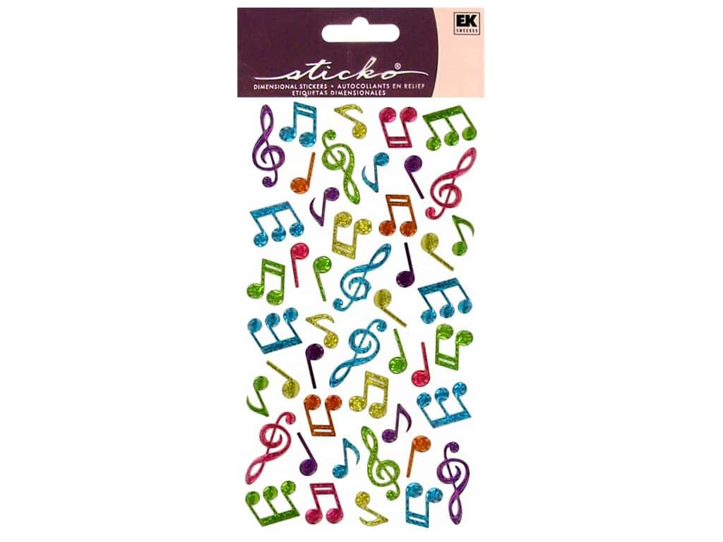 Sticko Sparkler Stickers - Music Notes