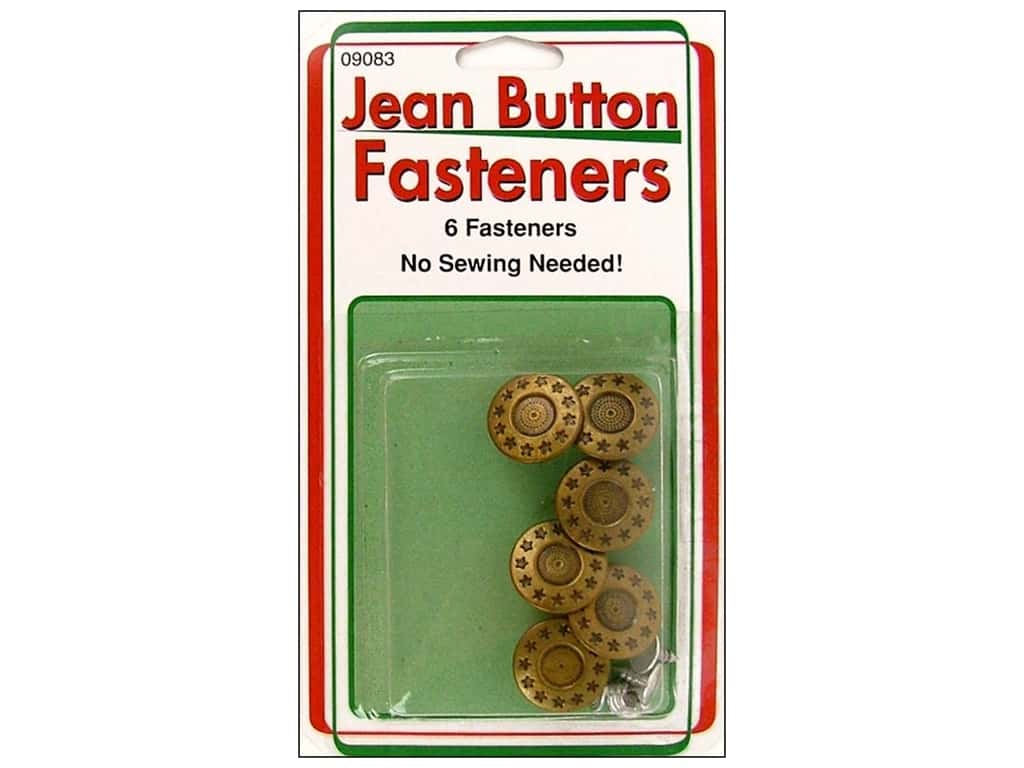 Sullivans Jean Button 6 pc. Star Ring Gold