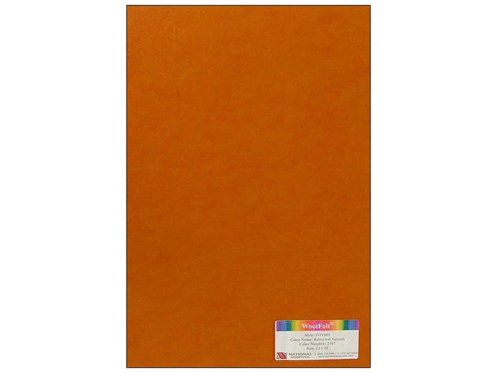 National Nonwovens 35% Wool Felt 12 x 18 in. Butternut Squash (10 sheets)