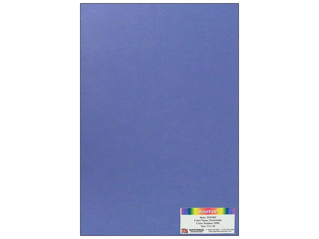 National Nonwovens 35% Wool Felt 12 x 18 in. Periwinkle (10 sheets)