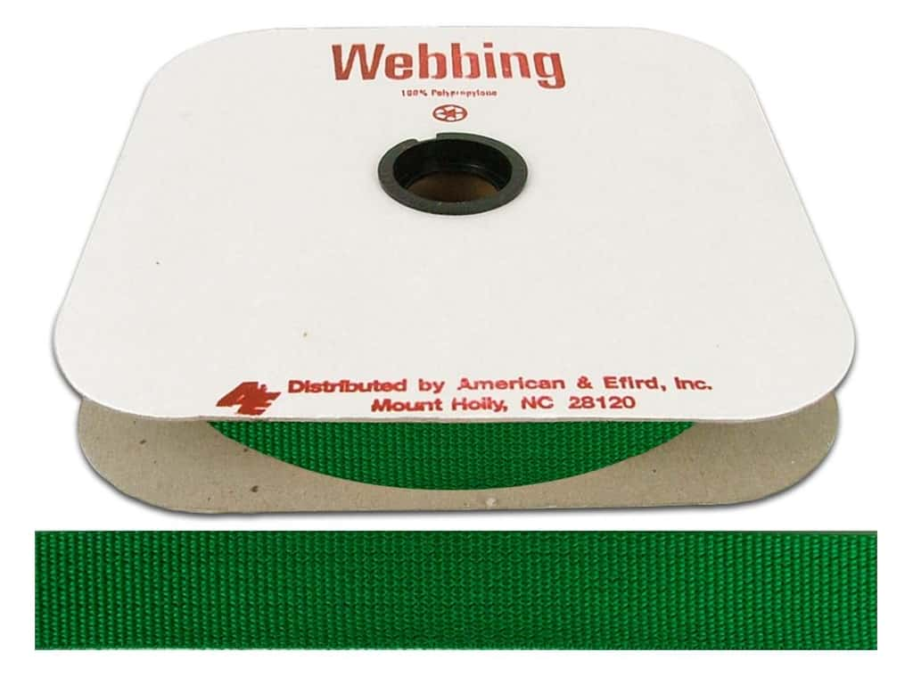 A&E Polypropylene Webbing 1 in. Lake Green (25 yards)