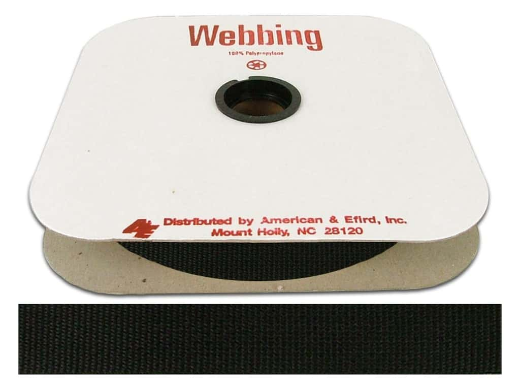 A&E Polypropylene Webbing 1 in. Black (25 yards)
