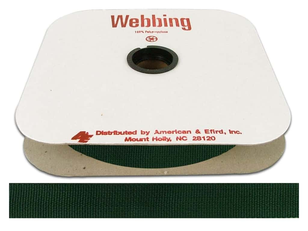 A&E Polypropylene Webbing 1 in. Forest Green (25 yards)