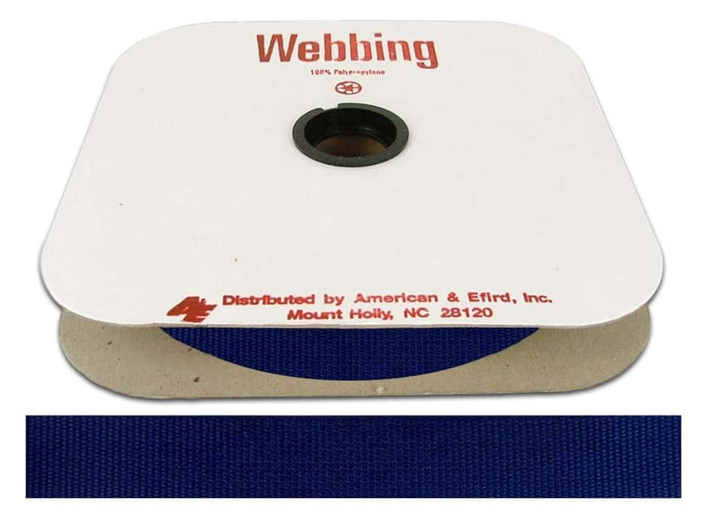 A&E Polypropylene Webbing 1 in. Victoria Blue (25 yards)