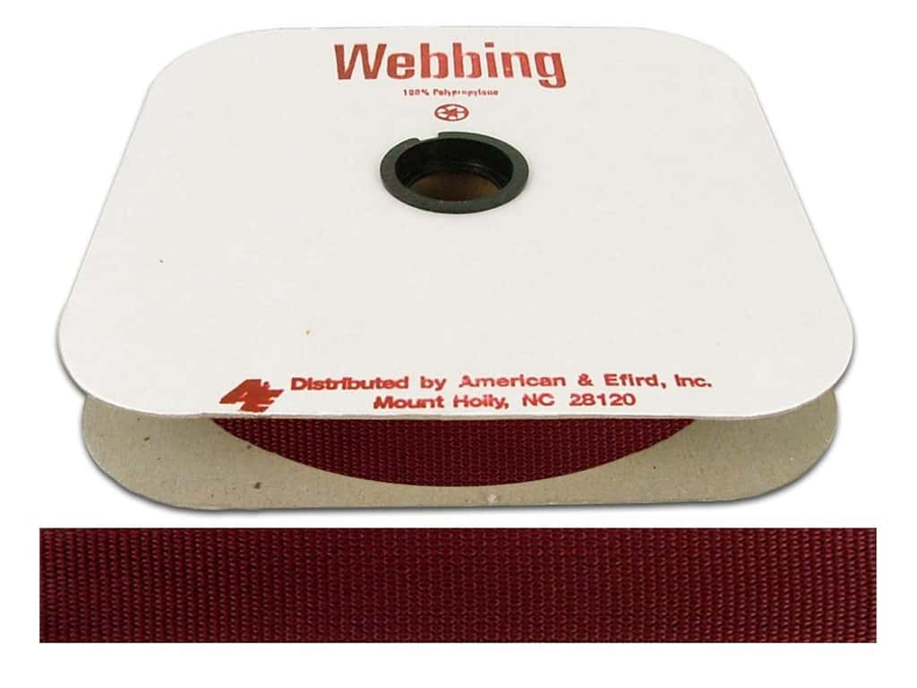 A&E Polypropylene Webbing American Beauty (25 yards)