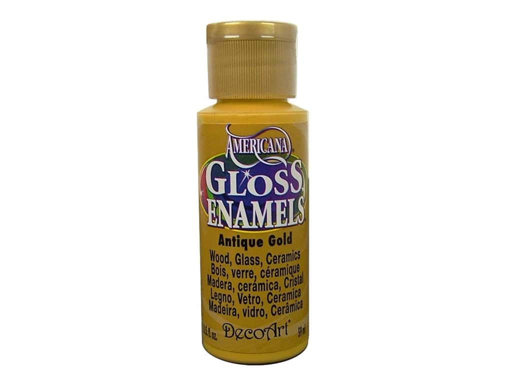 DecoArt Americana Gloss Enamel Paint 2 oz. #09 Antique Gold