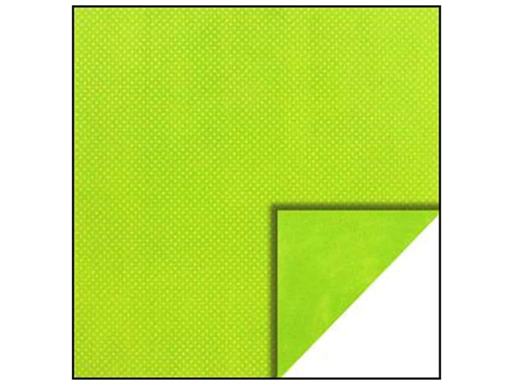 Bo Bunny 12 x 12 in. Paper Double Dot Collection Kiwi Dot (25 sheets)