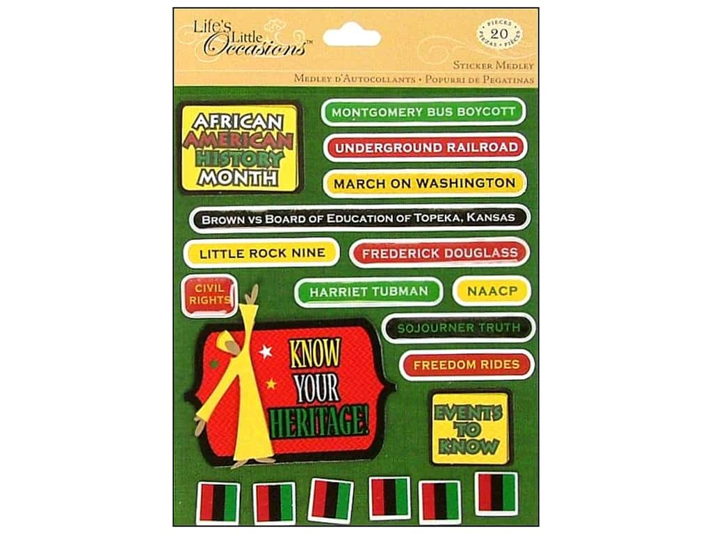 K&Company Stickers Life's Little Occasions African Heritage