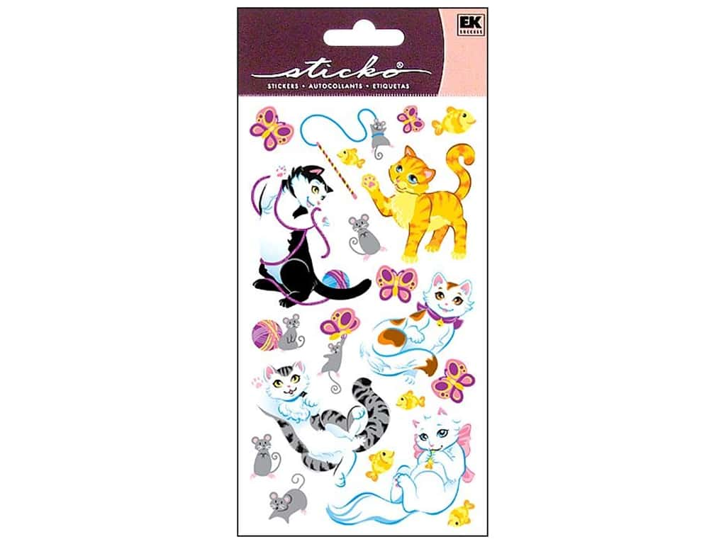 EK Sticko Stickers Playful Kittens