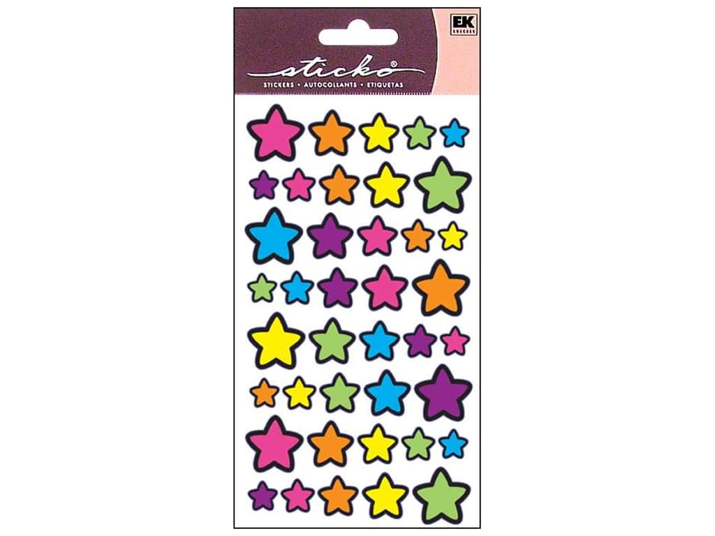 Sticko Stickers - Foil Technicolor Stars