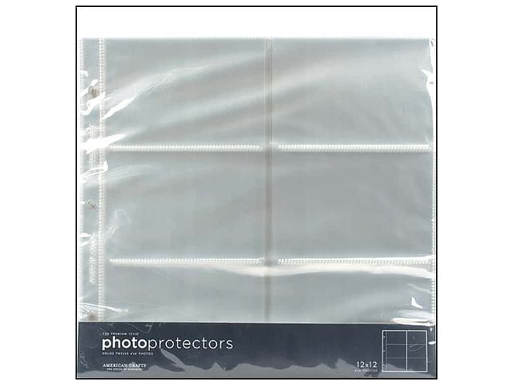 American Crafts Photo Protector 12 x 12 in. Horizontal 4 x 6 10 piece