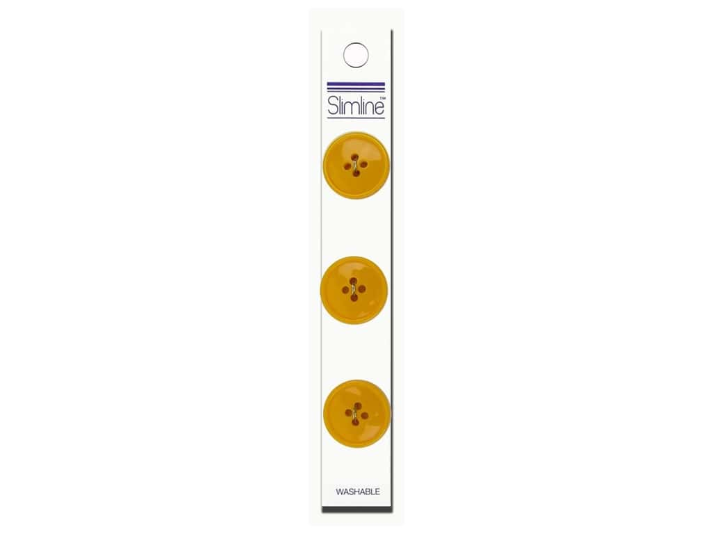 Slimline 4 Hole Buttons 3/4 in. Yellow 3 pc.