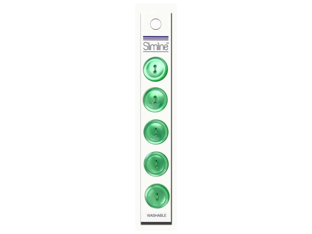 Slimline 2 Hole Buttons 3/4 in. Light Green 5 pc.