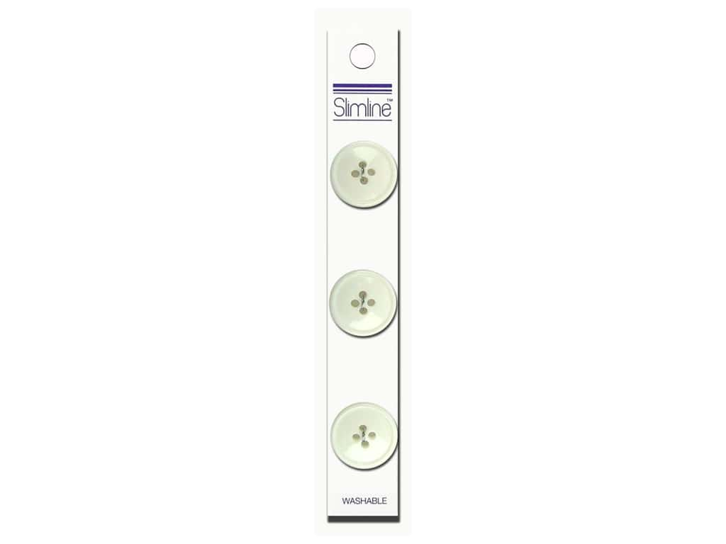 Slimline 4 Hole Buttons 3/4 in. White 3 pc.