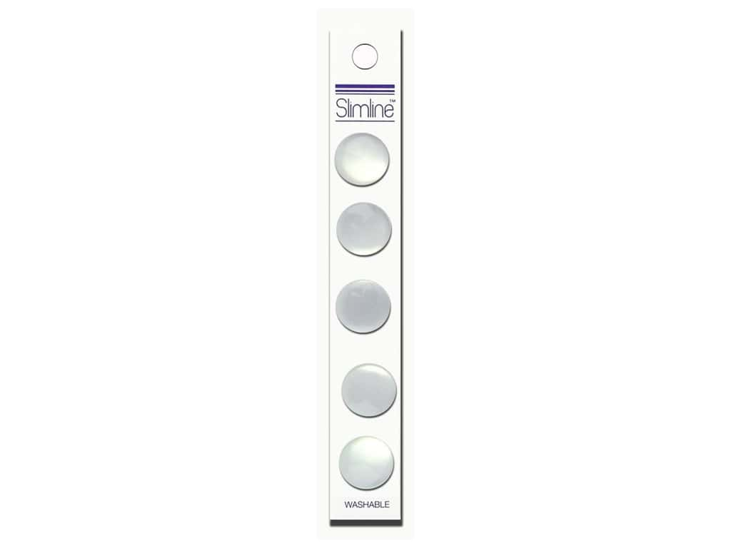 Slimline Shank Buttons 5/8 in. White 5 pc.