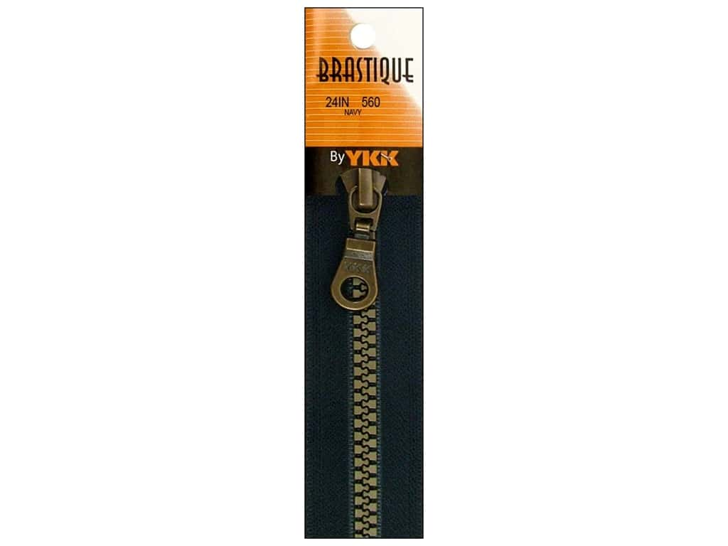 YKK Brastique 1-Way Separating Zipper 24 in. Navy