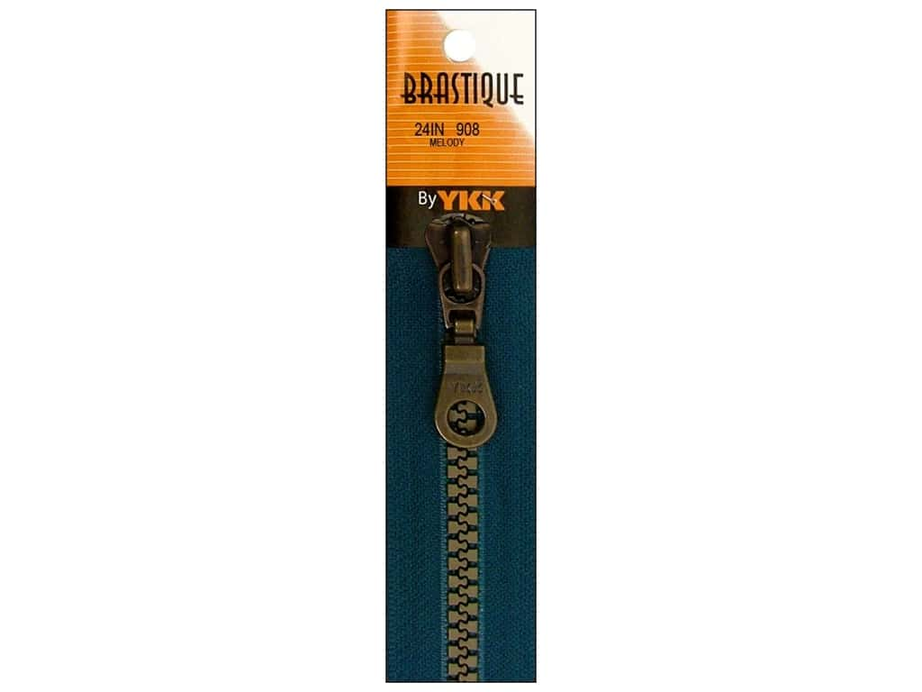 YKK Brastique 1-Way Separating Zipper 24 in. Melody
