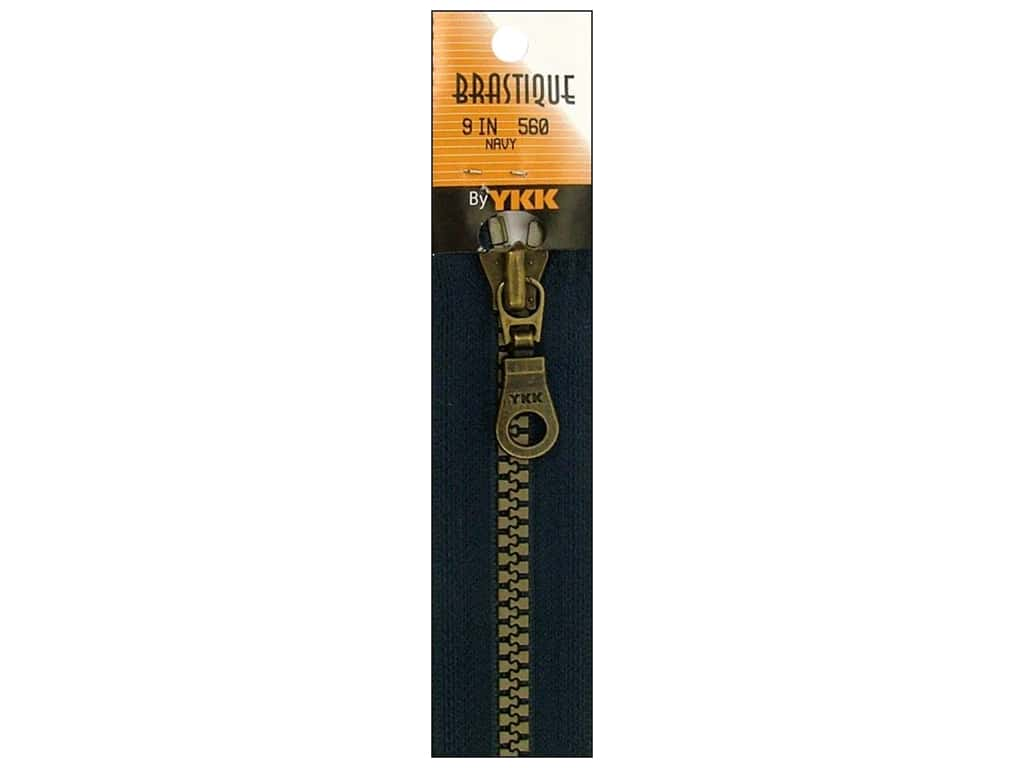 YKK Brastique Closed Bottom Zipper 9 in. Navy