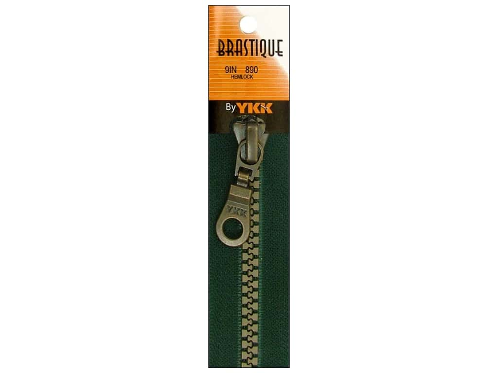 YKK Brastique Closed Bottom Zipper 9 in. Hemlock