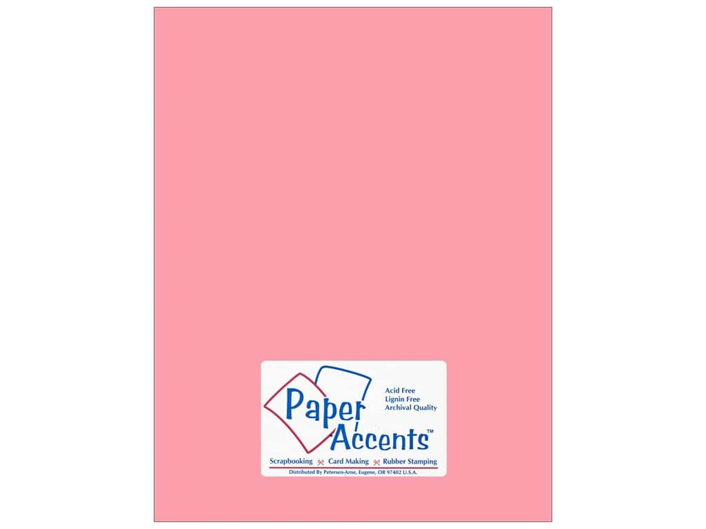 Paper Accents Cardstock 8 1/2 x 11 in. #18063 Smooth Tickled Pink 25 pc.