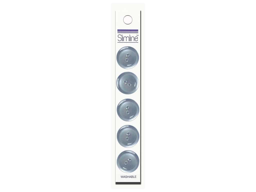 Slimline 2 Hole Buttons 3/4 in. Light Blue 5 pc.
