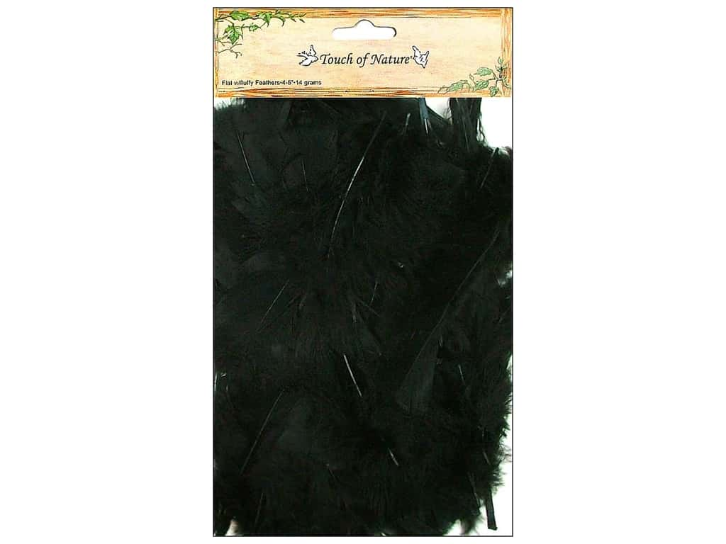 Midwest Design Turkey Flat Feathers 14 gm. 4 - 6 in. Black