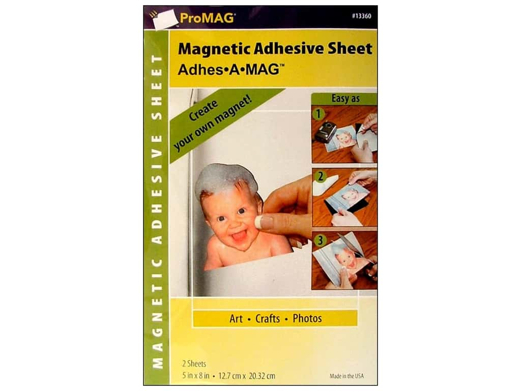 ProMag Magnetic Adhesive Sheet 5 x 8 in. 2 pc.