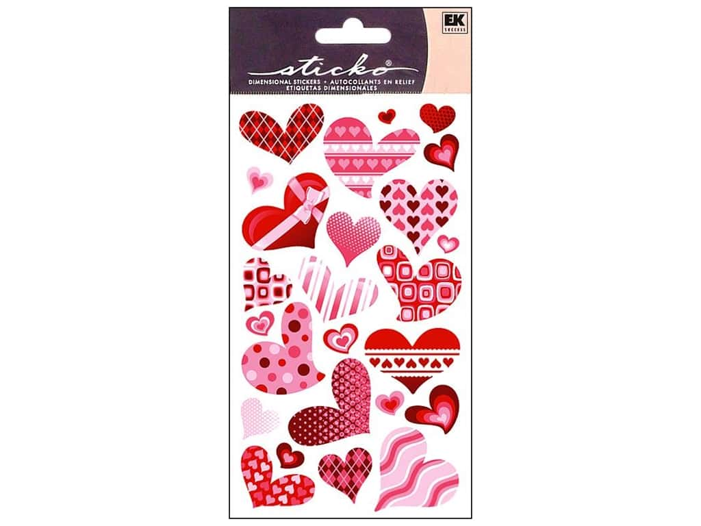 Sticko Stickers - Funky Hearts