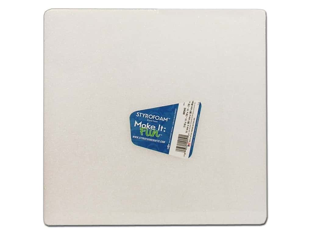 FloraCraft Styrofoam Block 12 x 12 x 1/2 in. White 1 pc.