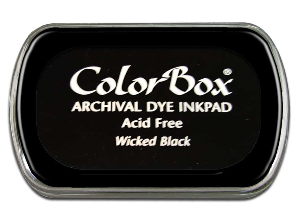 ColorBox Archival Dye Ink Pad Full Size Wicked Black