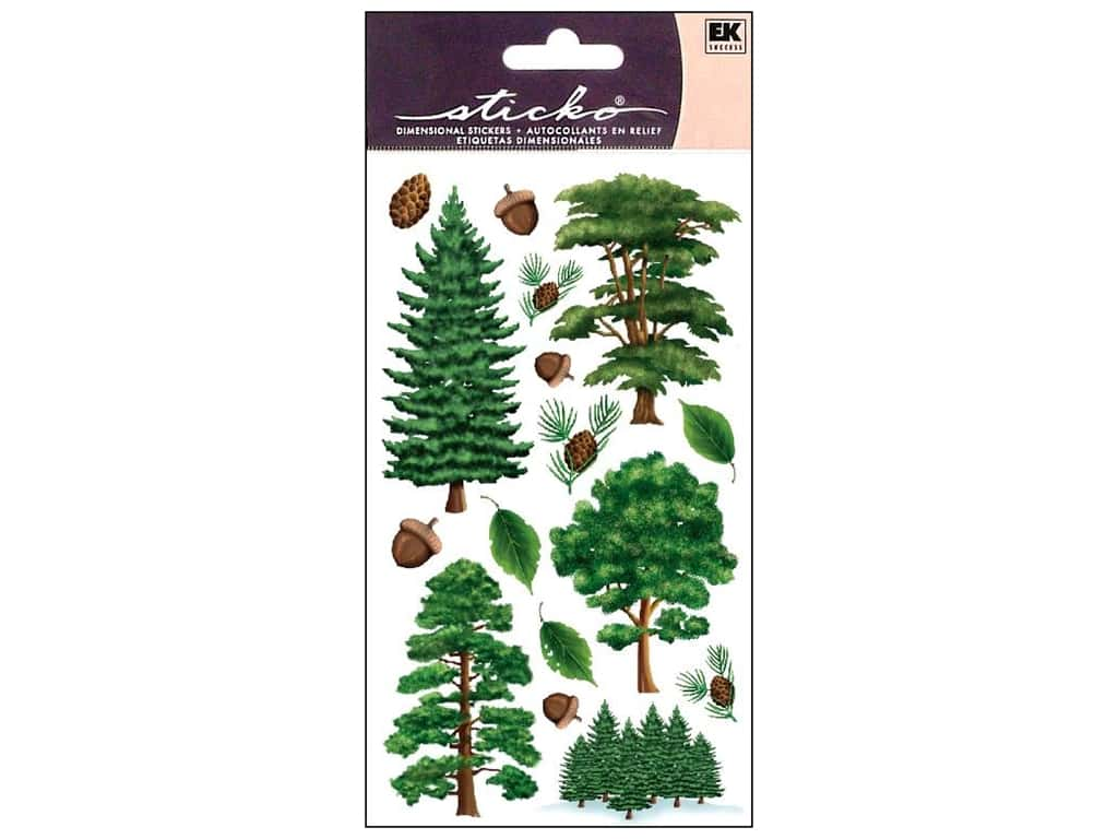 EK Sticko Stickers Majestic Trees