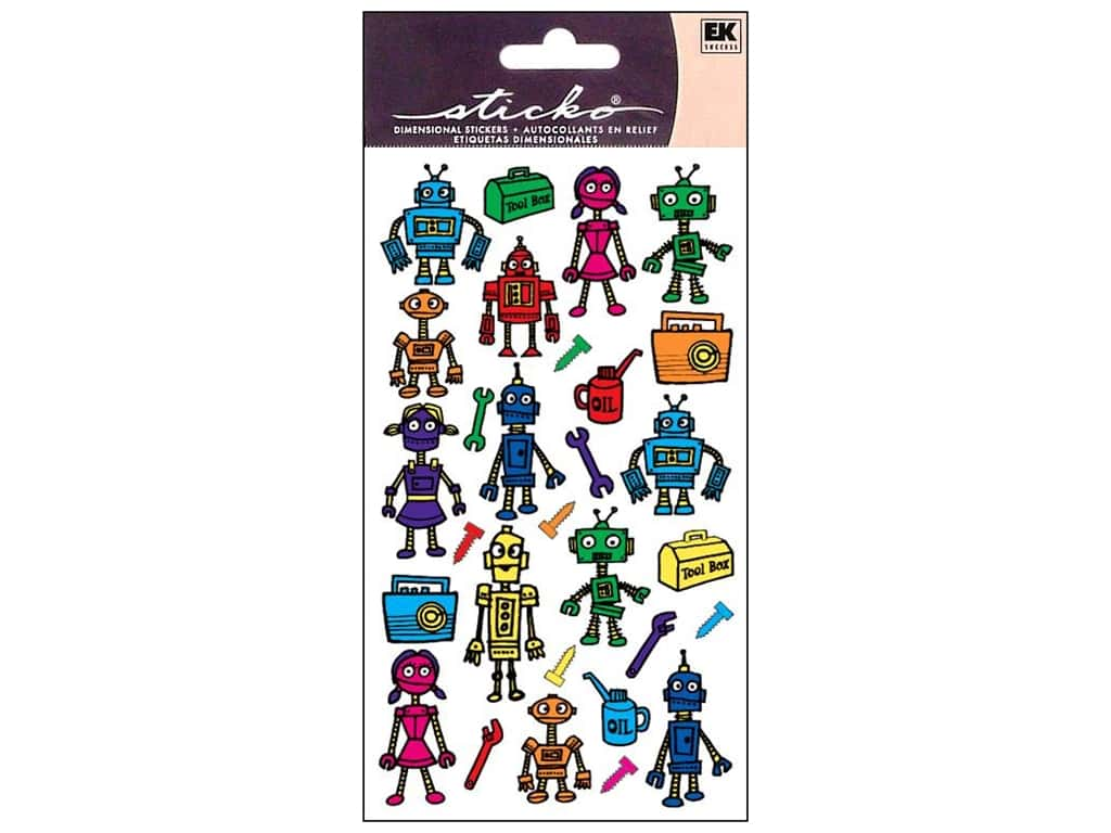Sticko Stickers - Colorful Robots