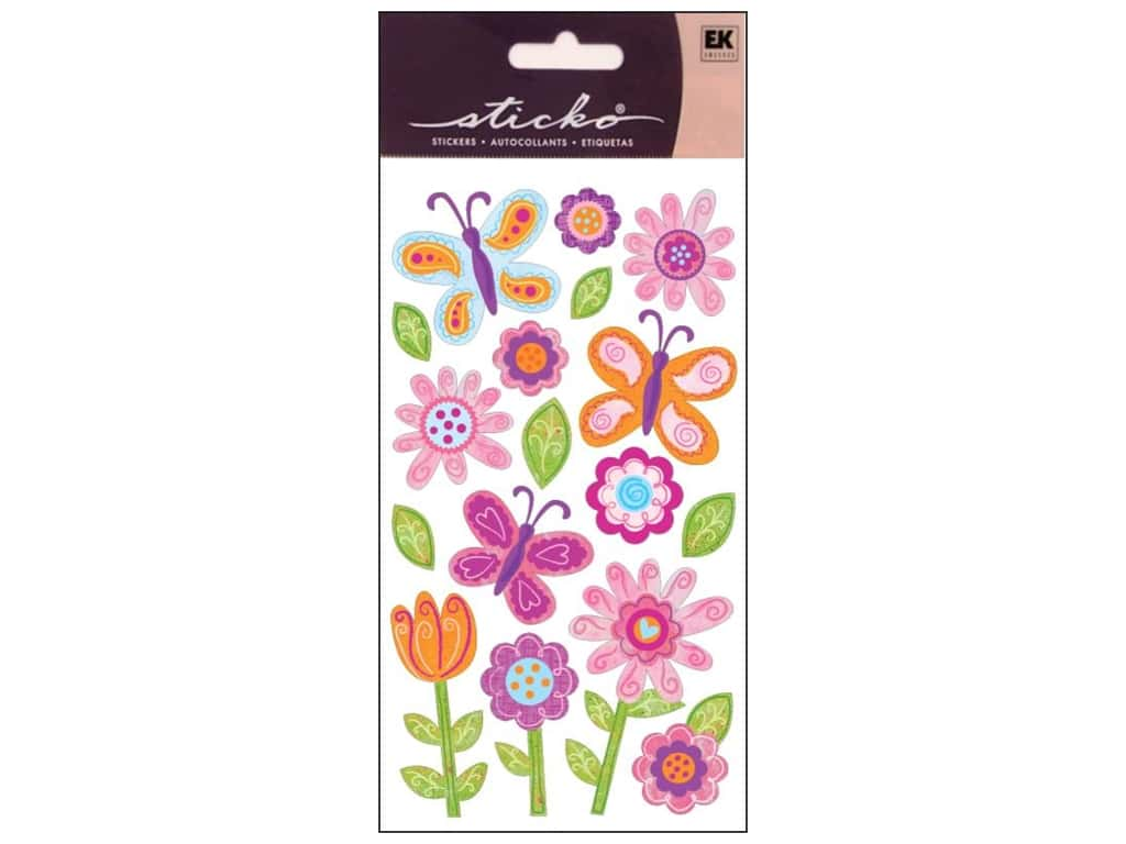 EK Sticko Stickers Whimsical Garden
