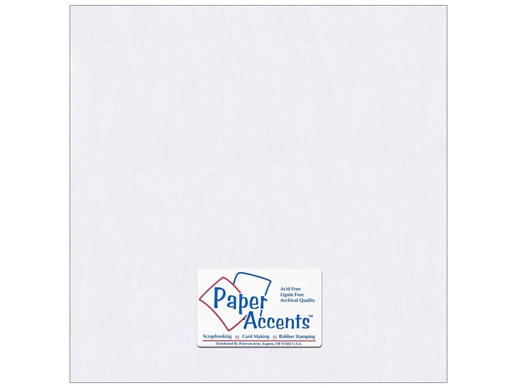 Paper Accents Pearlized Paper 12 x 12 in. #8814 Bright White (25 sheets)