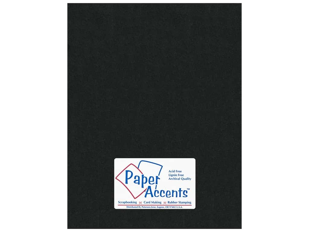 Paper Accents Pearlized Paper 8 1/2 x 11 in. #855 Onyx (25 sheets)