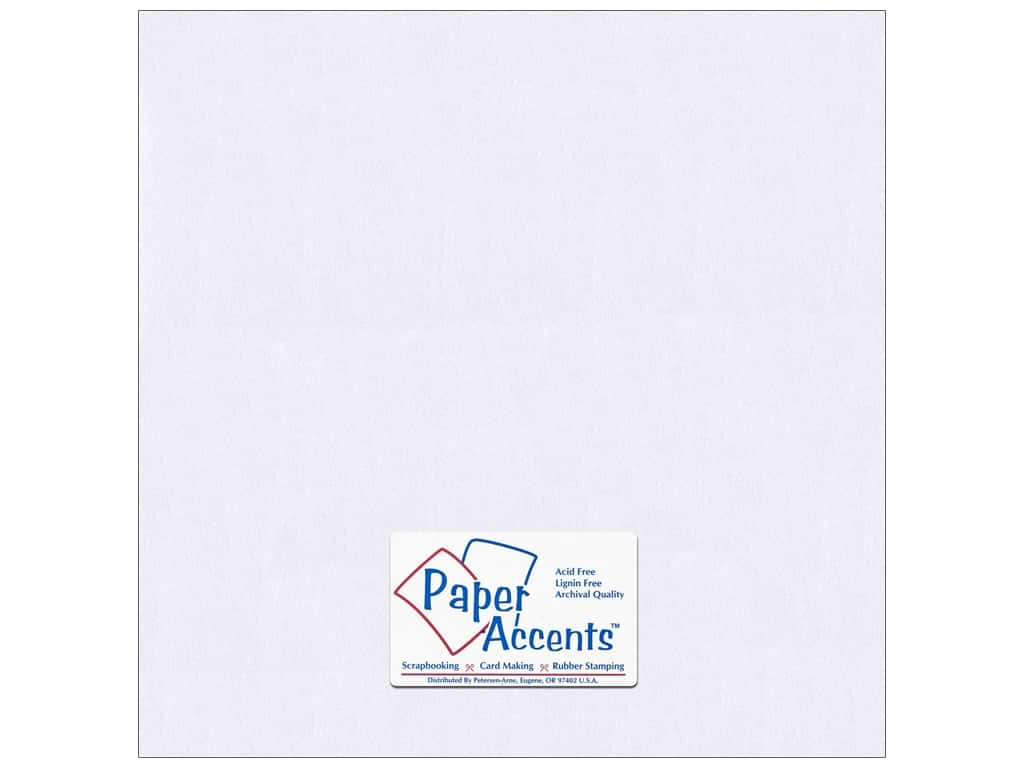 Paper Accents Cardstock 12 x 12 in. #8814C Pearlized Bright White 25 pc.